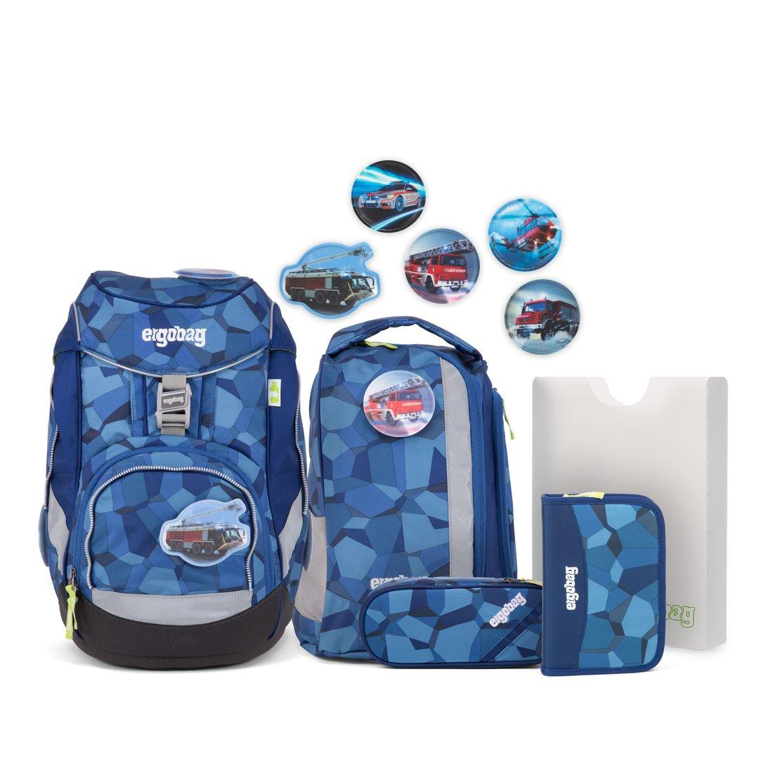 Ergobag Pack Set Tatütabär Blaue Steine Rettungswagen Kletties