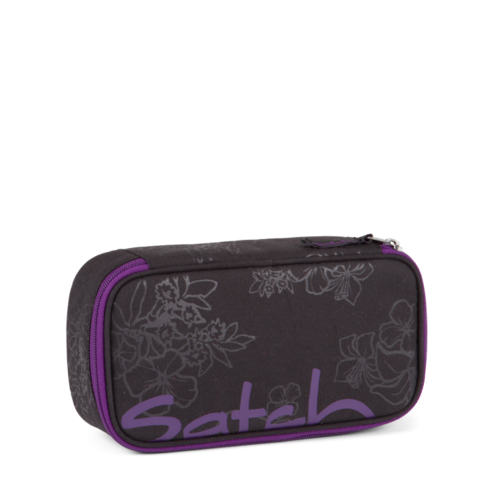 satch Schlamperbox Purple Hibiscus Heatembossed Blumen