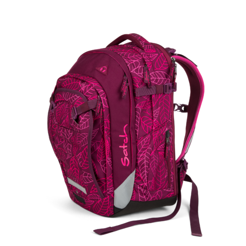 satch match-Schulrucksack Purple Leaves