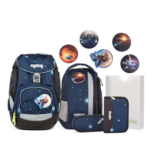ergobag pack-Set KoBärnikus Glow Edition Blau Galaxy