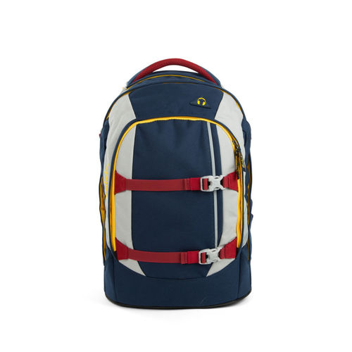 satch pack-Schulrucksack Flash Hopper Color Block Dunkelblau