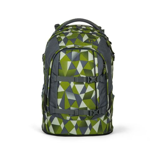 satch pack-Schulrucksack Green Crush Grün Polygon