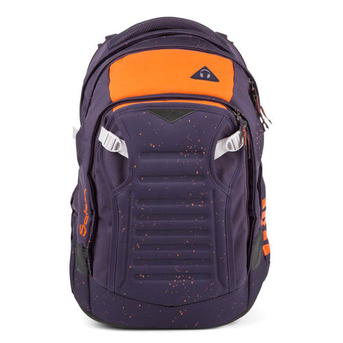 satch match-Schulrucksack Optimus Orange Dunkel Lila Orange gesprenkelt